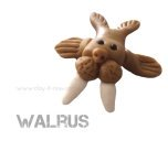 Walrus figurine in air dry clay by Clayitnow