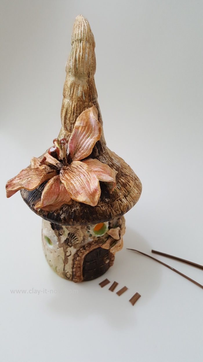 lily flower fairy house jar lantern by clayitnow
