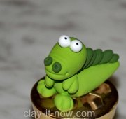 cute baby crocodile for cup cake topper