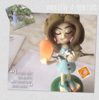 how to make cute girl figurine? - tutorial - clayitnow