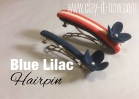 blue lilac clay - hairpin