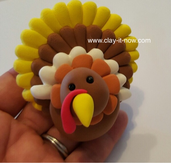 thanksgiving turkey clay, turkey, thanksgiving, turkey clay napkin ring-kidsproject