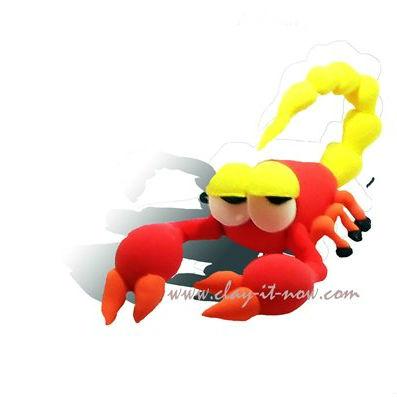 scorpion pet clay-animal figurine