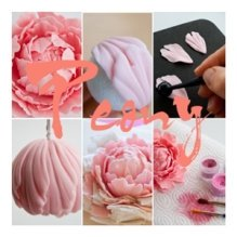 peony flower from gum paste and air dry clay