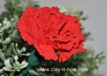 red carnation tutorial in air dry soft clay