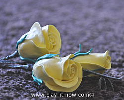 rose clay, yellow rose