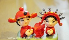 mini chinese bride & groom figurine