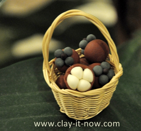 mangosteen clay miniature