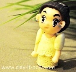 Mestiza dress, cute mini figurine