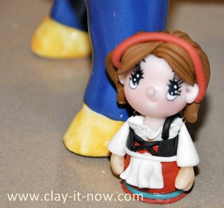 cute mini figurine, traditional german dress, dirndl