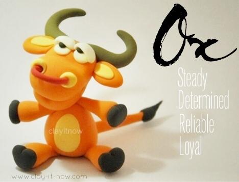 OX clay -  animal figurine