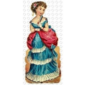 victorian lady dress style