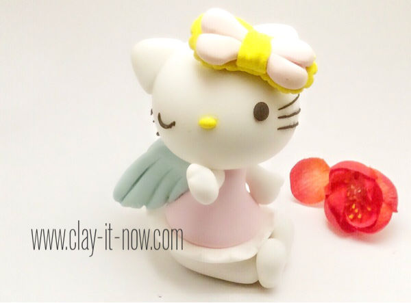 hello kitty figurine in air dry clay