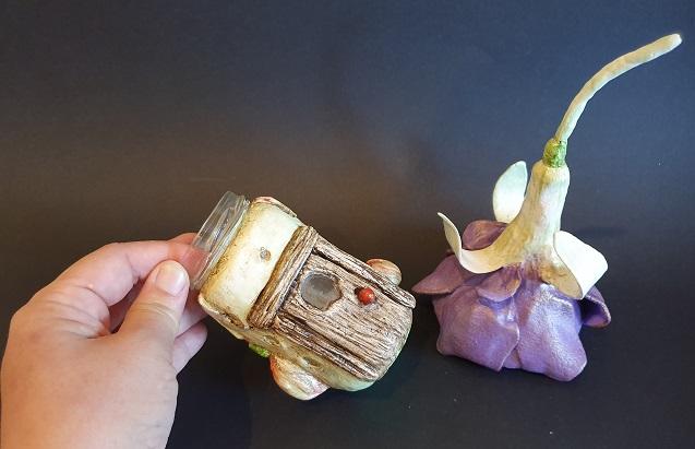 fuchsia flower fairy house tutorial.
