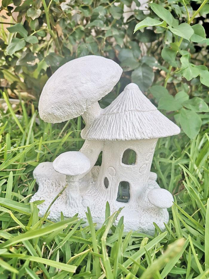 blue mushroom fairy house jar idea