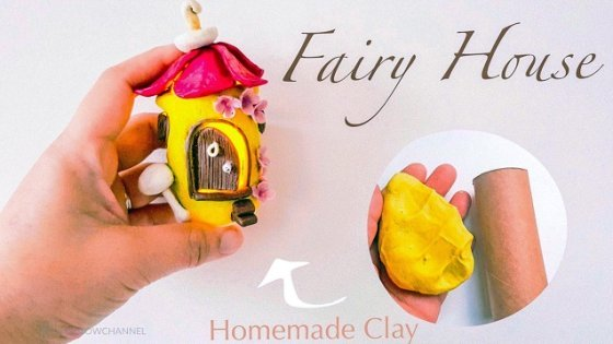fairy flower house with toilet roll tube