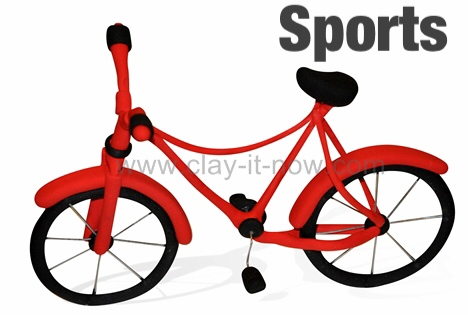 Clayitnow bicycle clay - sport and hobbies series