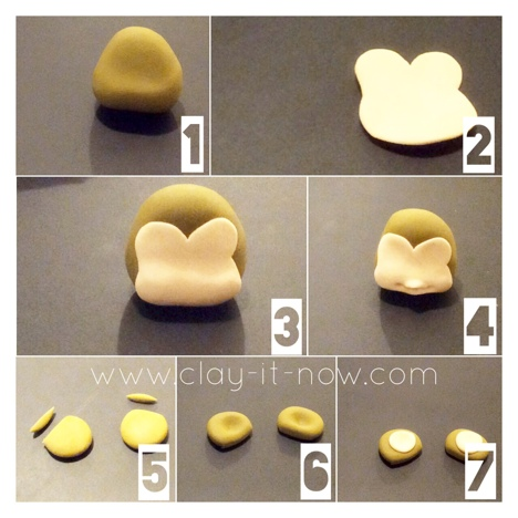 cute monkey figurine - how to make monkey - STEP 2