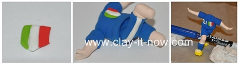 football player figurine, world cup 2014 Brazil - Step 4