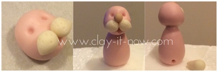 Steps to make rabbit figurine