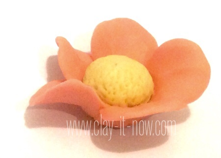place card holder with 5 petals flower-BASE