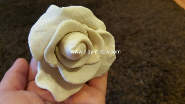 nobakesaltdough rose, flower without mold