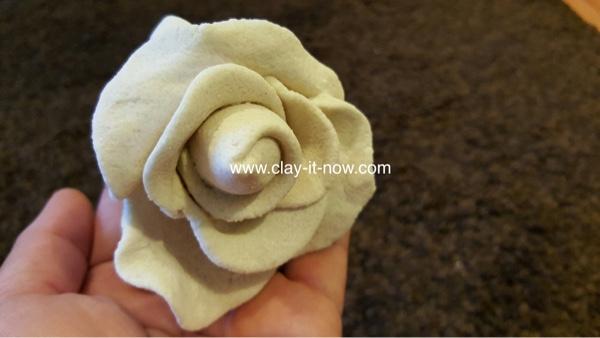 nobakesaltdough rose, flower without mold