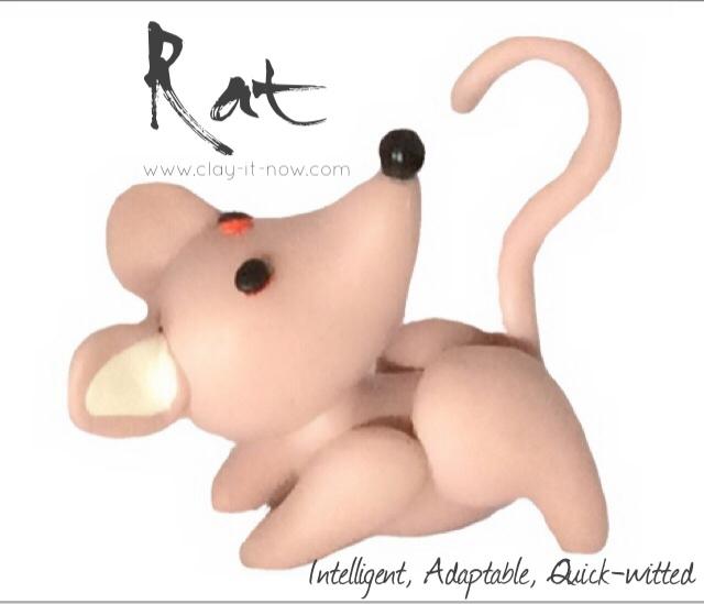 12 animals in Chinese zodiac - RAT-how to make rat figurine