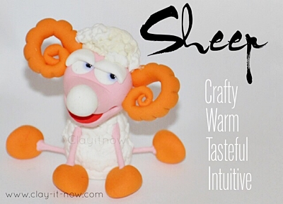 Sheep Clay Figurine - How to make sheep