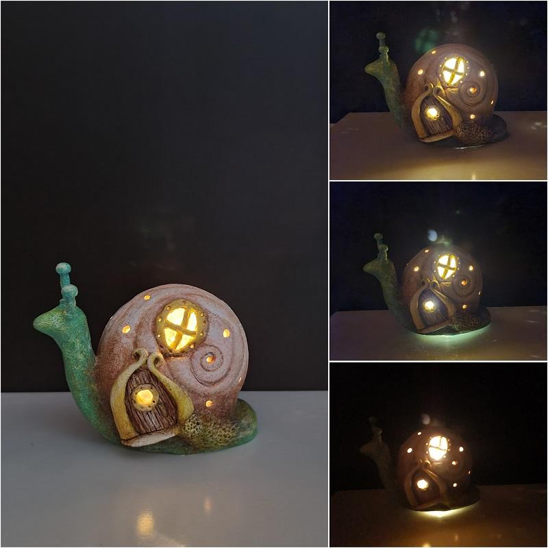 Snail fairy house lamp DIY - 3 - Clayitnow
