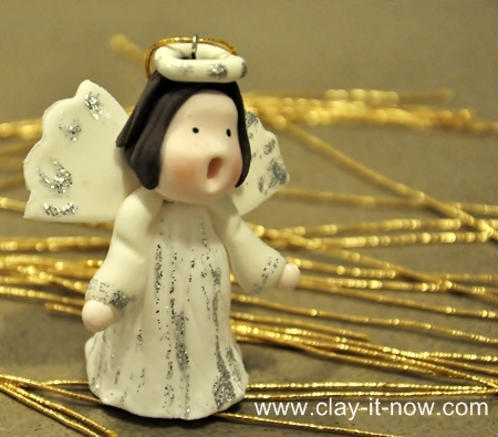 Cute Angel Figurine, Angels for Christmas tree decoration, Christmas cake decoration