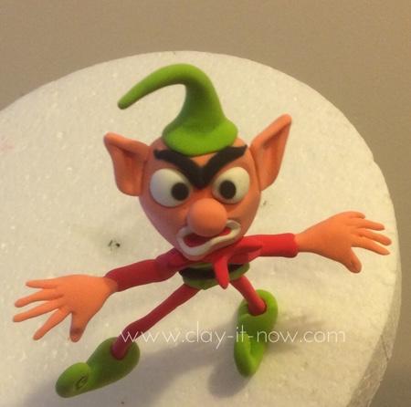 Angry Elf figurine - Christmas Decoration