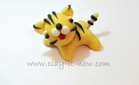 baby tiger figurine, how to make cute baby tiger, a cub, tiger, air dry clay