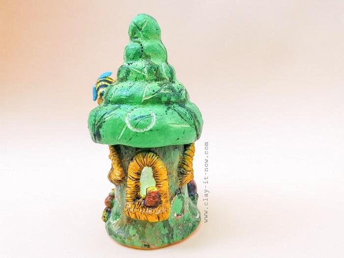 honey bee fairy house jar -  by clayitnow