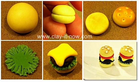 burgerclayjewelry, burgerclay, how to make burger clay