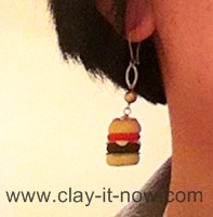 burgerclayjewelry, burgerclay, burgerclayearring, airdryclay