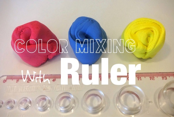 clay coloring technique with color mixing ruller