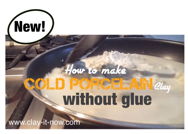 cold porcelain clay without glue - homemade clay - better than saltdough-NEW recipe