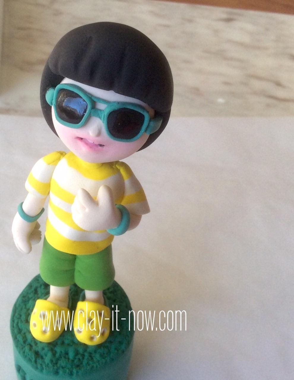 cool boy figurine,how to make life-like figurine-boy