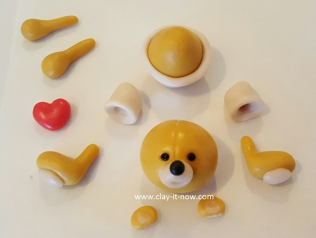 bear with love, cute bear,clay tutorial, best homemade clay, cold porcelain clay tutorial - 3