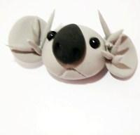 cute koala figurine, koala clay