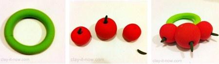 cherry napkin ring