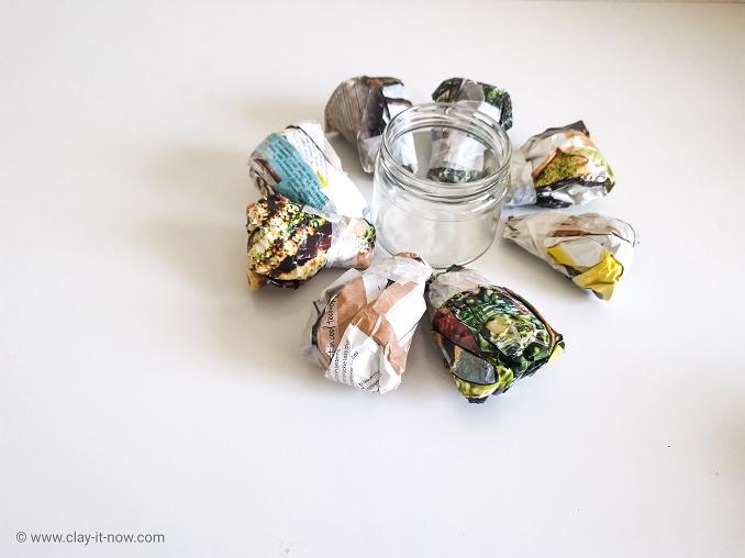faux clay stone container jar - DIY Idea