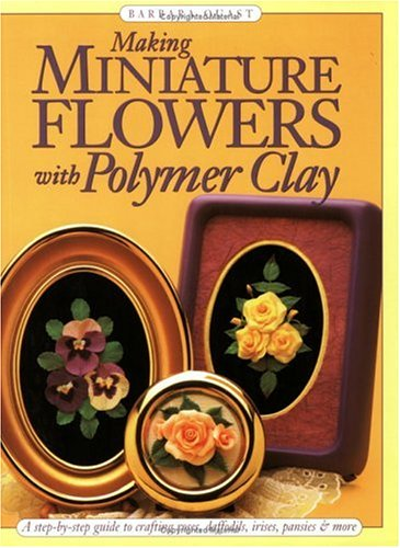 miniature flowers with polymer clay book