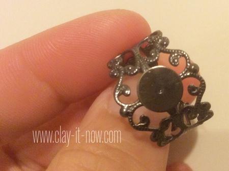 gerbera daisy clay ring -  how to make gerbera daisy clay - ring base