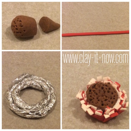gerbera daisy clay ring -  how to make gerbera daisy clay - step 1