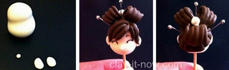cute Japanese girl figurine tutorial with cold porcelain clay