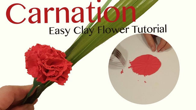 how to make carnations clay flower easily - carnation flower - carnations - clay flowers