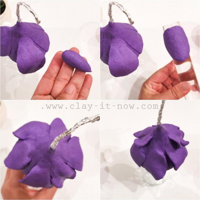 fuchsia flower fairy house tutorial - 4