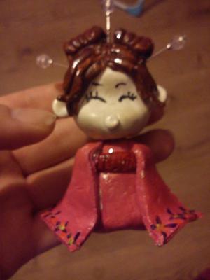 Japanese Girl Figurine Ornament